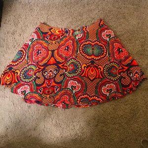 NWOT Forever 21 Bold Print Mini Skirt